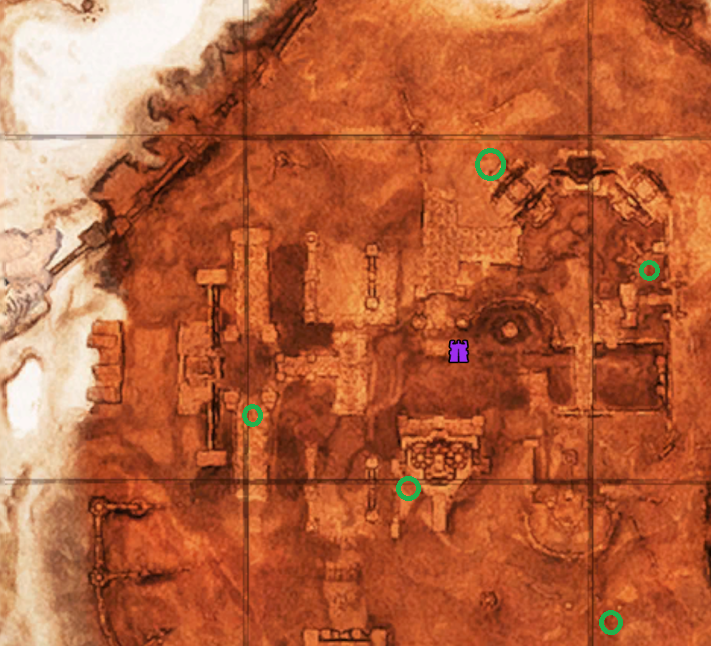 Безымянный город карта минибоссов